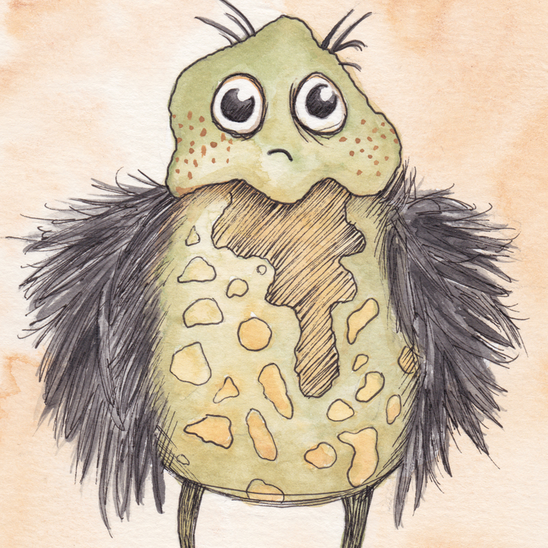 Feather Monster Illustration
