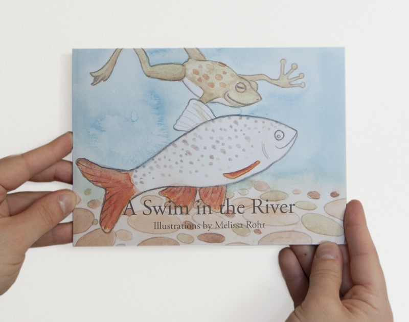 A Swim in the River Story Book by Melissa RohrPicture