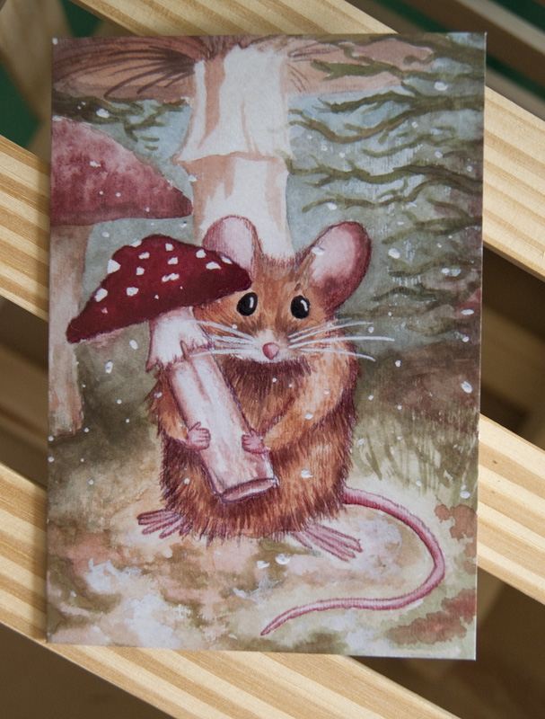 mouse holiday card