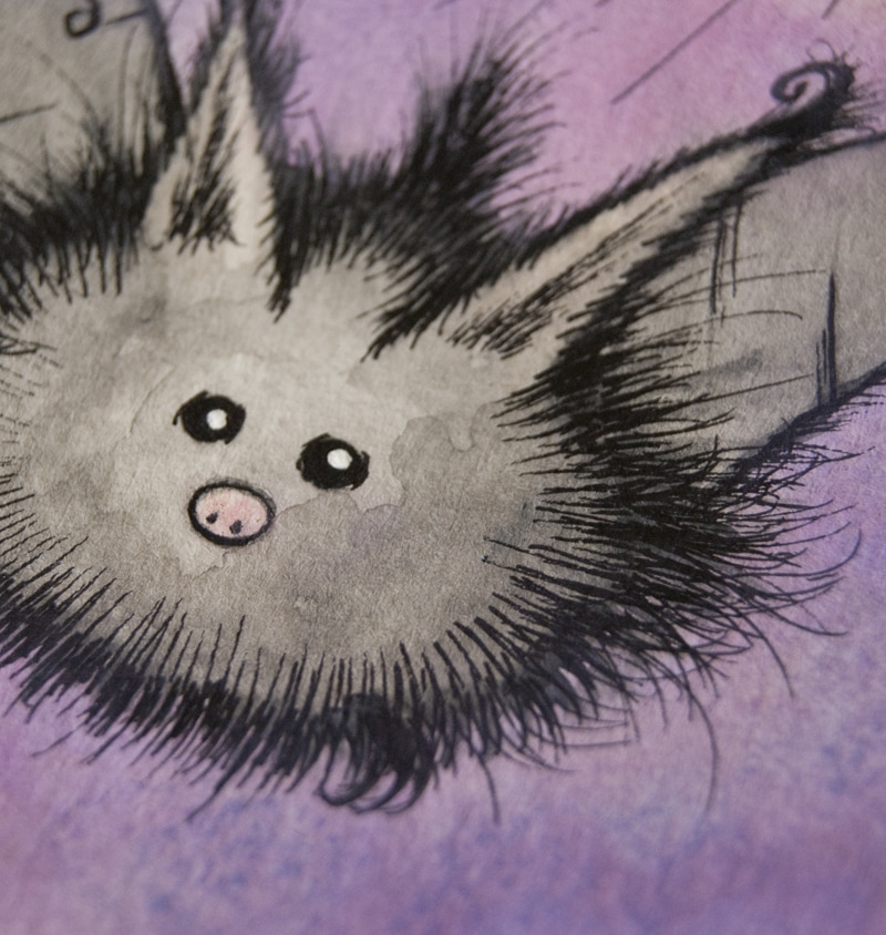 Fluffy Bat Illustration