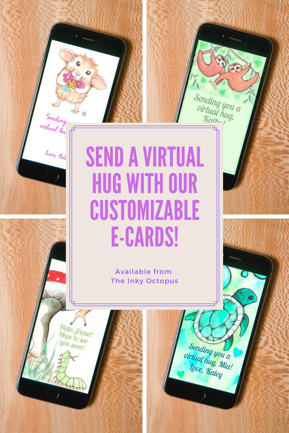 Customizable e-cards by Melissa Rohr