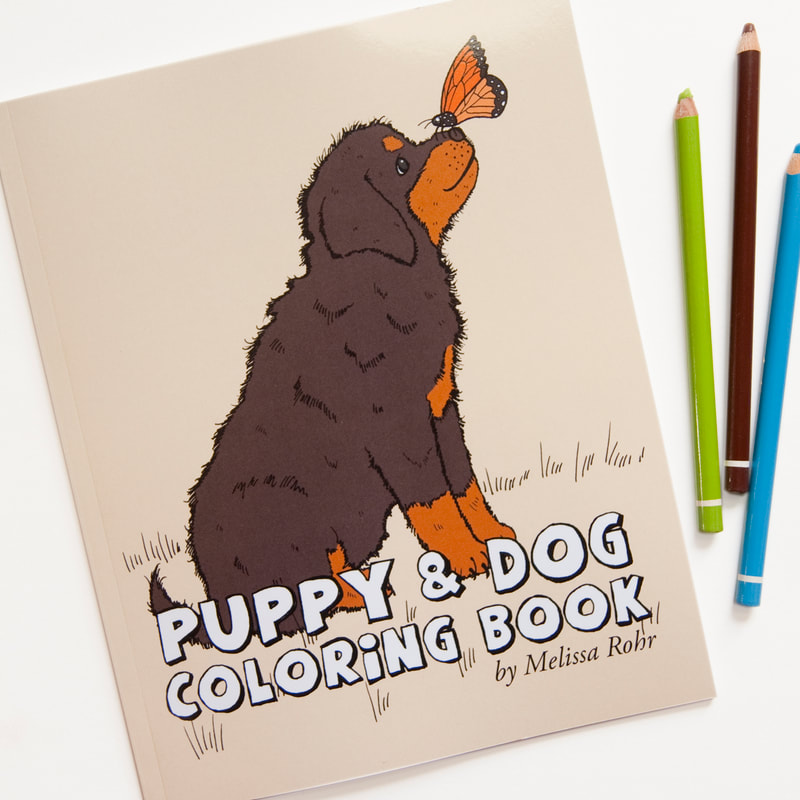 PUPPY & DOG COLORING BOOK BY MELISSA ROHR