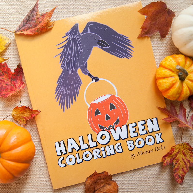 Halloween Coloring Book by Melissa Rohr