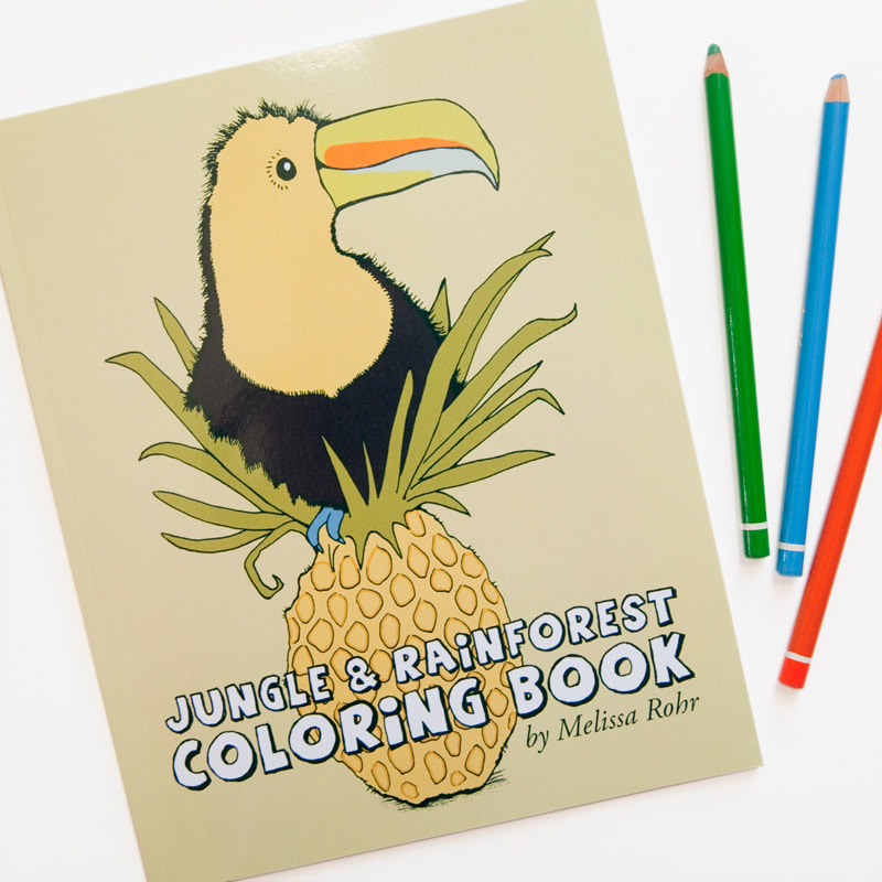 JUNGLE AND RAINFOREST COLORING BOOK BY MELISSA ROHR